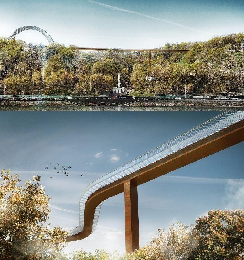 Швейцарські архітектори заявили, що Київ вкрав концепцію моста