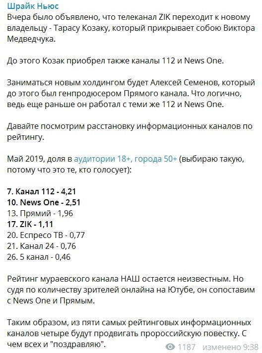 Блогер рассказал, какие телеканалы в Украине будут работать на Россию