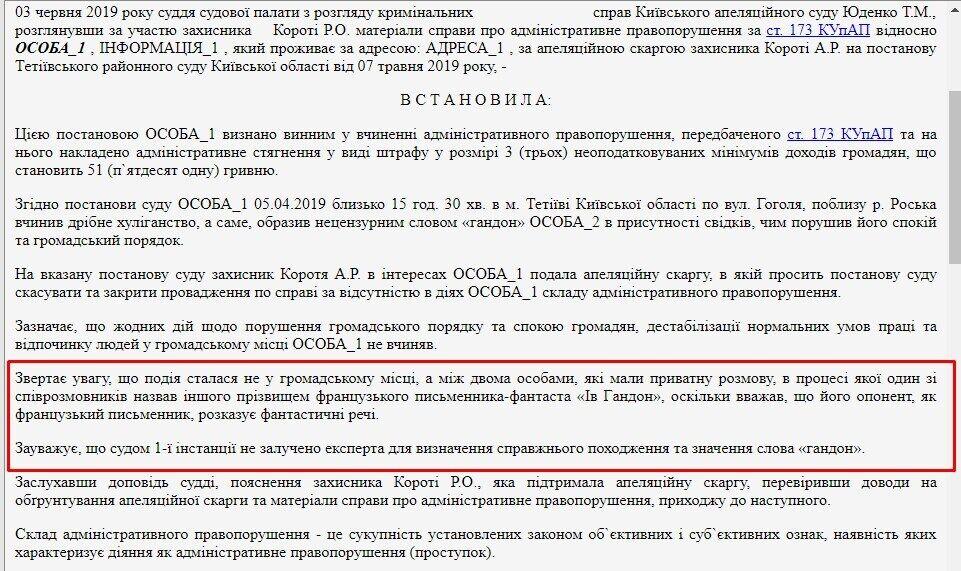 Суд визнав українського мера гандоном