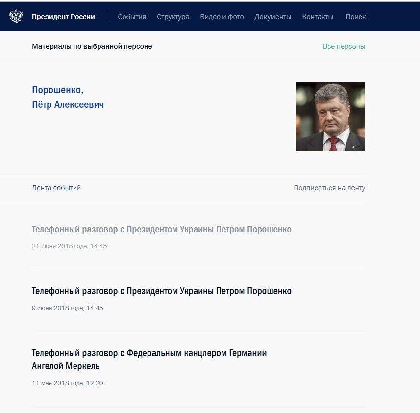 Кремль хранит страницу Януковича вместе с Порошенко и Зеленским
