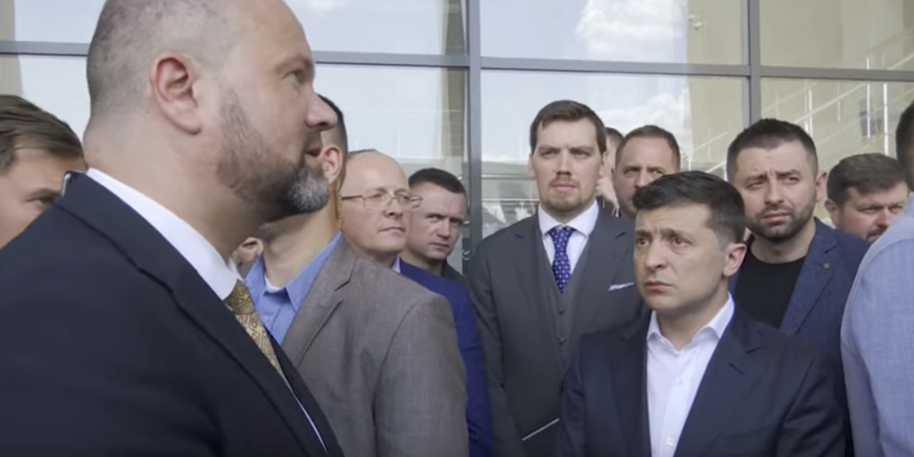 Вячеслав Бонь и Владимир Зеленский