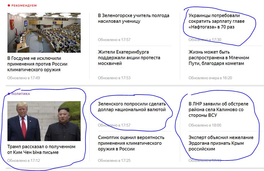 Топ новостей Яндекса