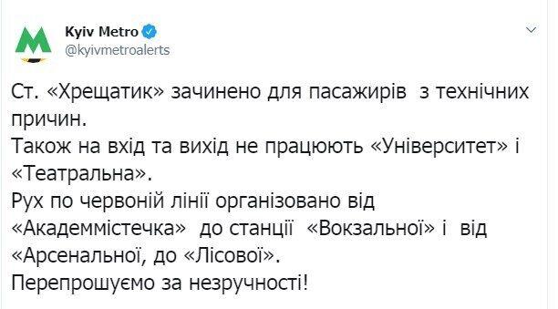 Что случилось в метро Киева: внезапно закрыли ключевые станции