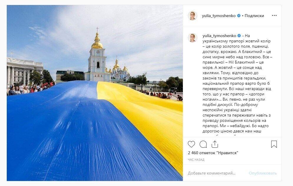 """""""Все наши проблемы из-за этого!"""" Тимошенко потребовала перевернуть флаг Украины"""