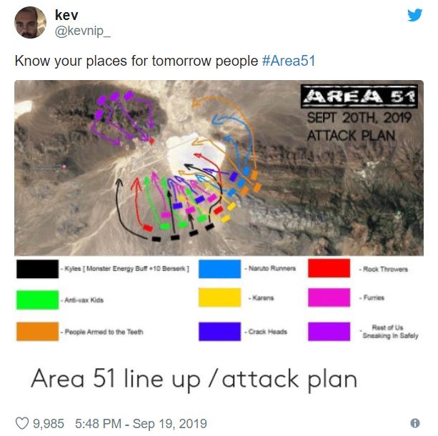 Штурм Зони 51 породив нові вибухові меми
