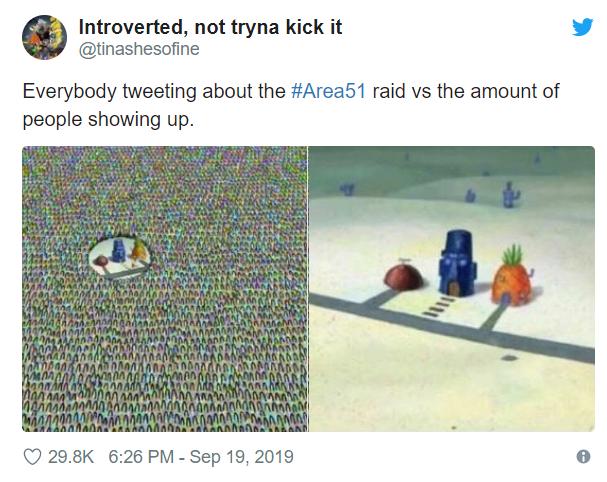 Штурм Зоны 51 породил новые взрывные мемы