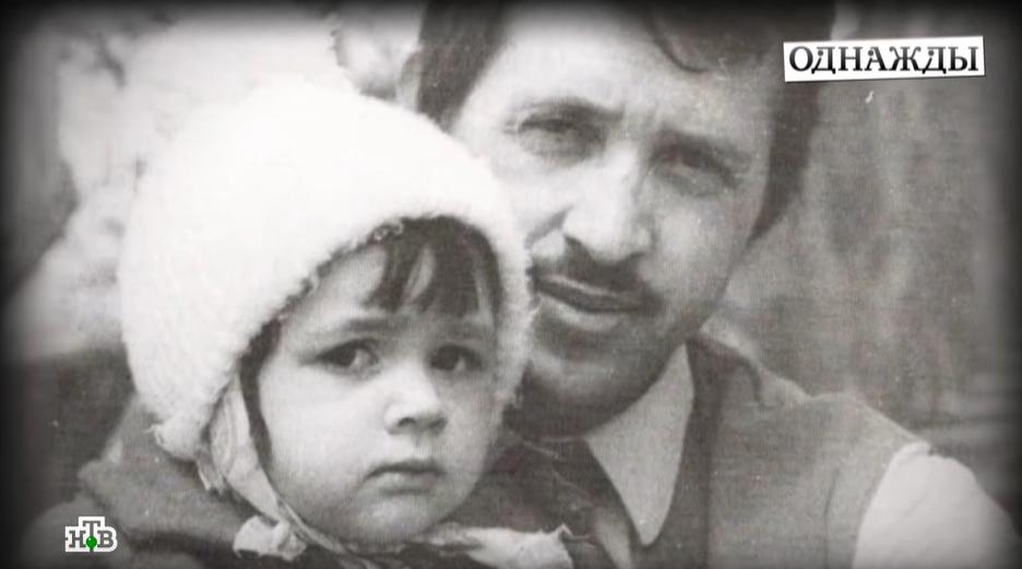 Анастасія Заворотнюк з батьком в дитинстві