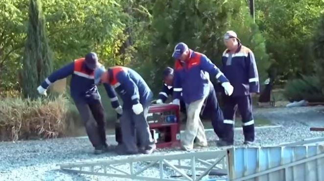 Работы по восстановлению транспортного сообщения с Крымом