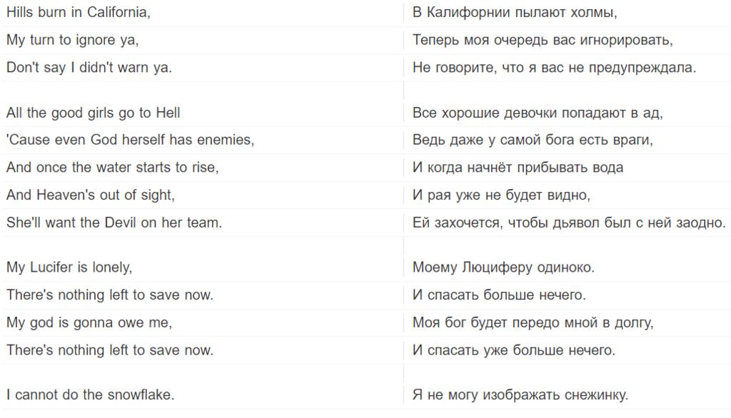 All the good girls go to hell: текст и перевод песни на русский, скачать хит Билли Айлиш