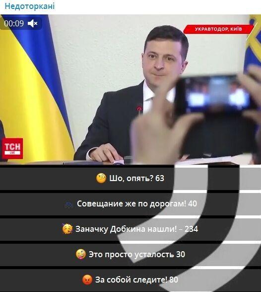 """Зеленський у прямому ефірі в """"Укравтодорі"""" несподівано показав пародію на Добкіна, відео"""