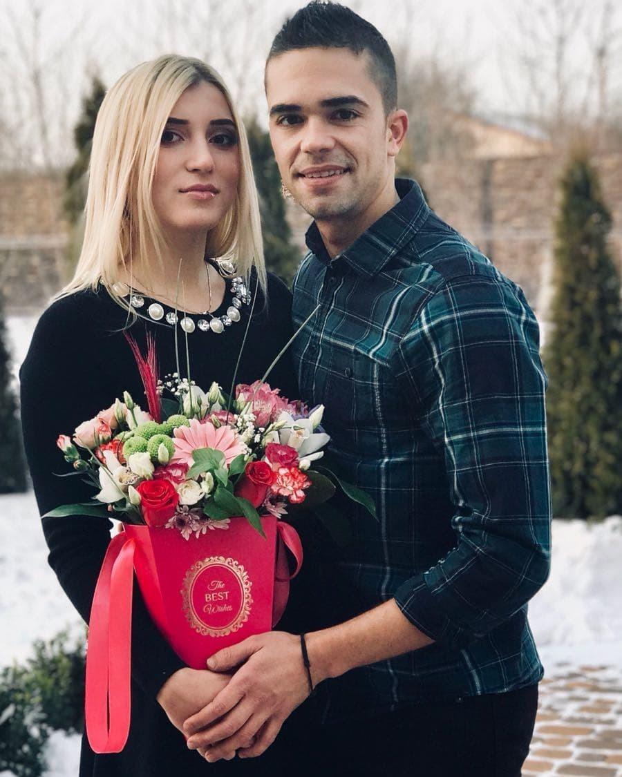 Яна Белоконь и Фран Барсело, январь 2018 года