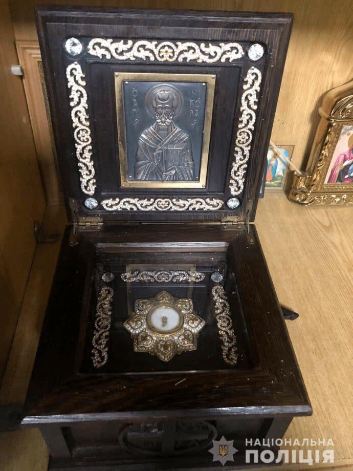 У Вінниці з церкви вкрали мощі святого Миколая