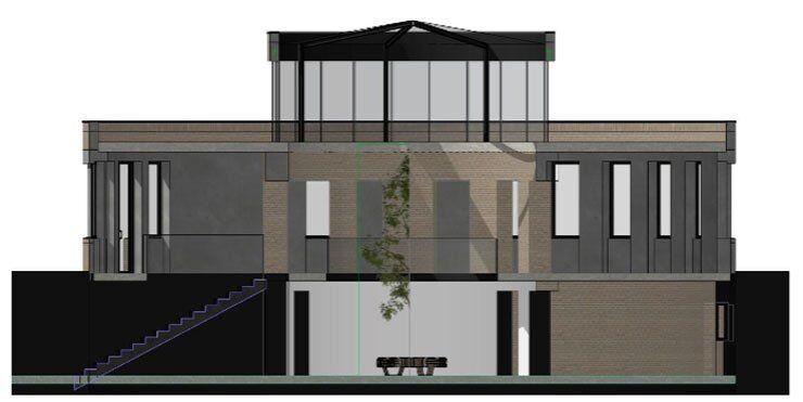 У модерністській будівлі на Рейтарській створять простір з ресторанами та магазинами локальних продуктів.