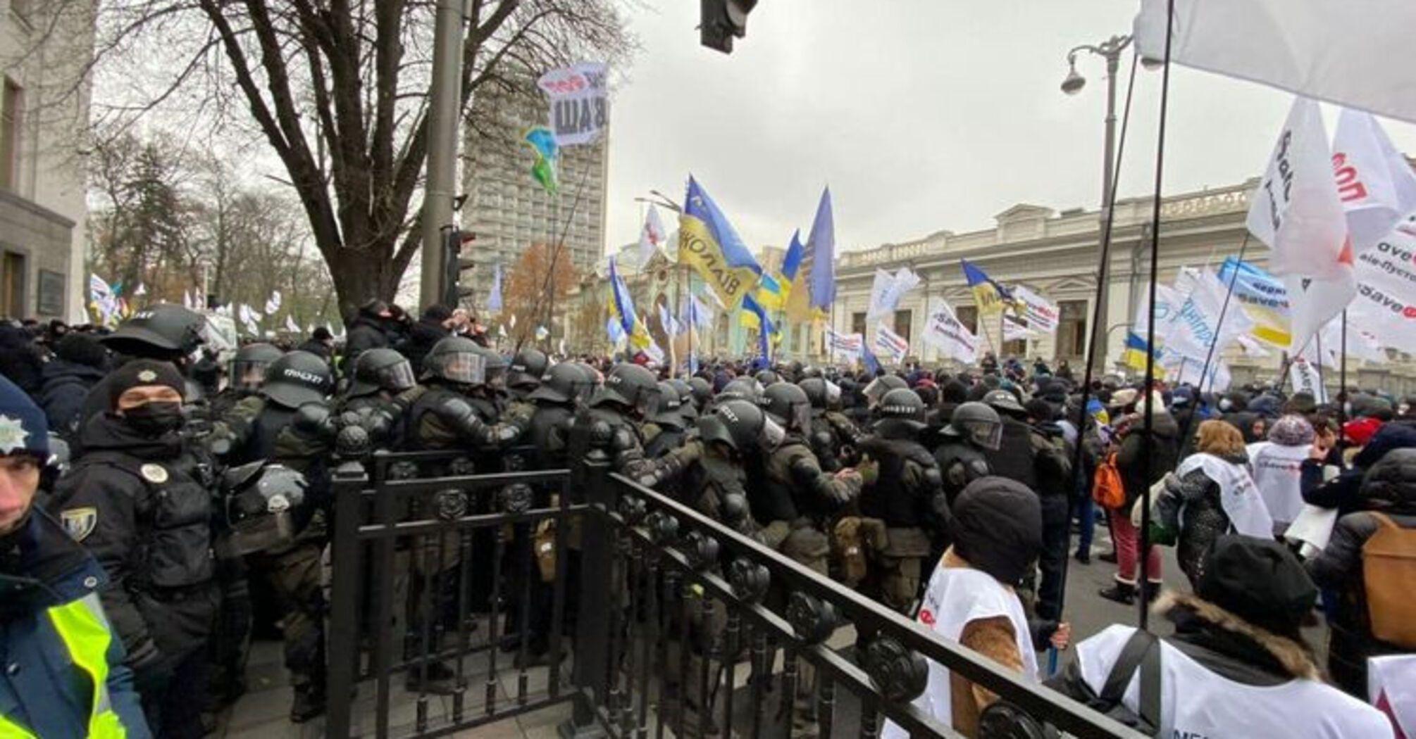Возле Рады снова митингуют ФЛП