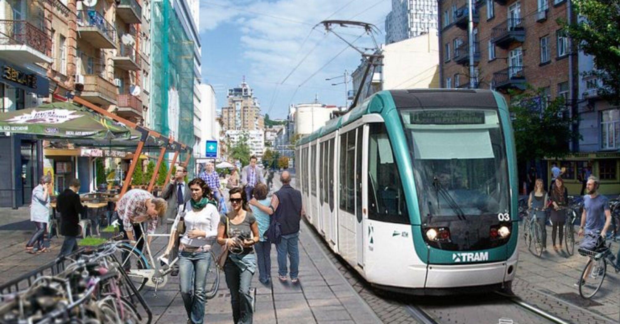"""Кличко доручив збудувати трамвай від вокзалу до """"Палацу Спорту"""". Це мають зробити за 4 роки."""