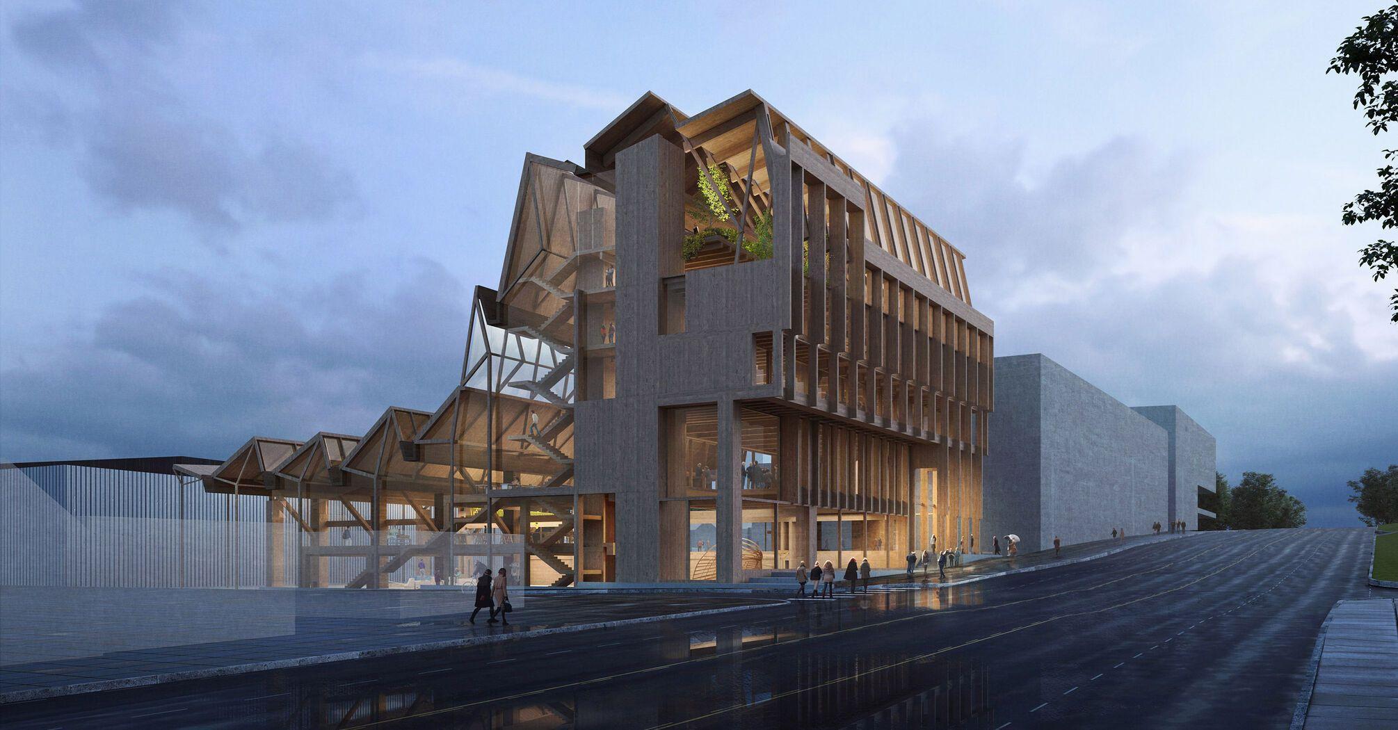Grafton Architects відкриє дослідницький центр з деревини в Університеті Арканзасу.