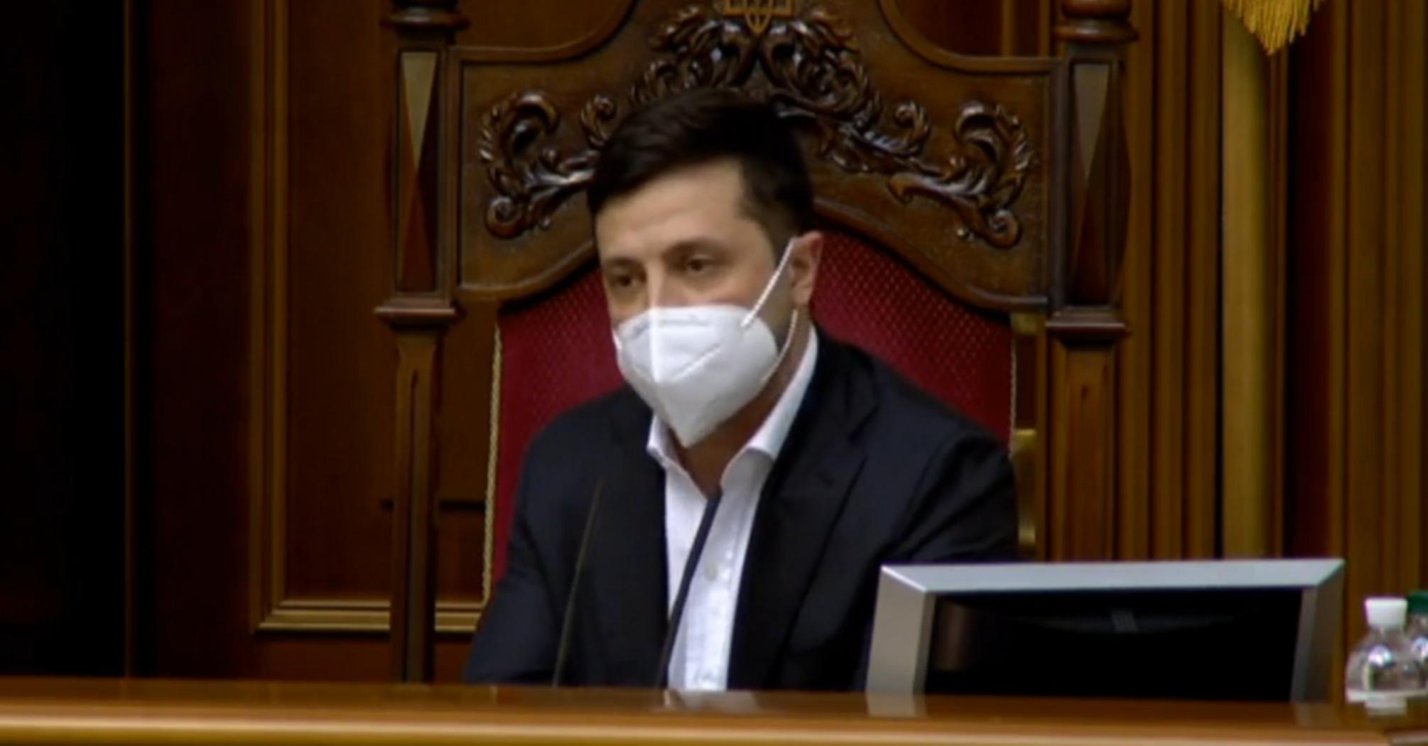 Володимир Зеленський в масці