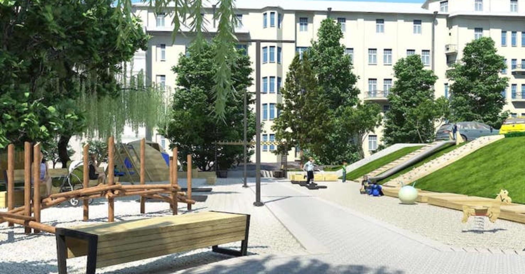 Активісти розробили проєкт реконструкції скверу на вулиці Бульварно-Кудрявській