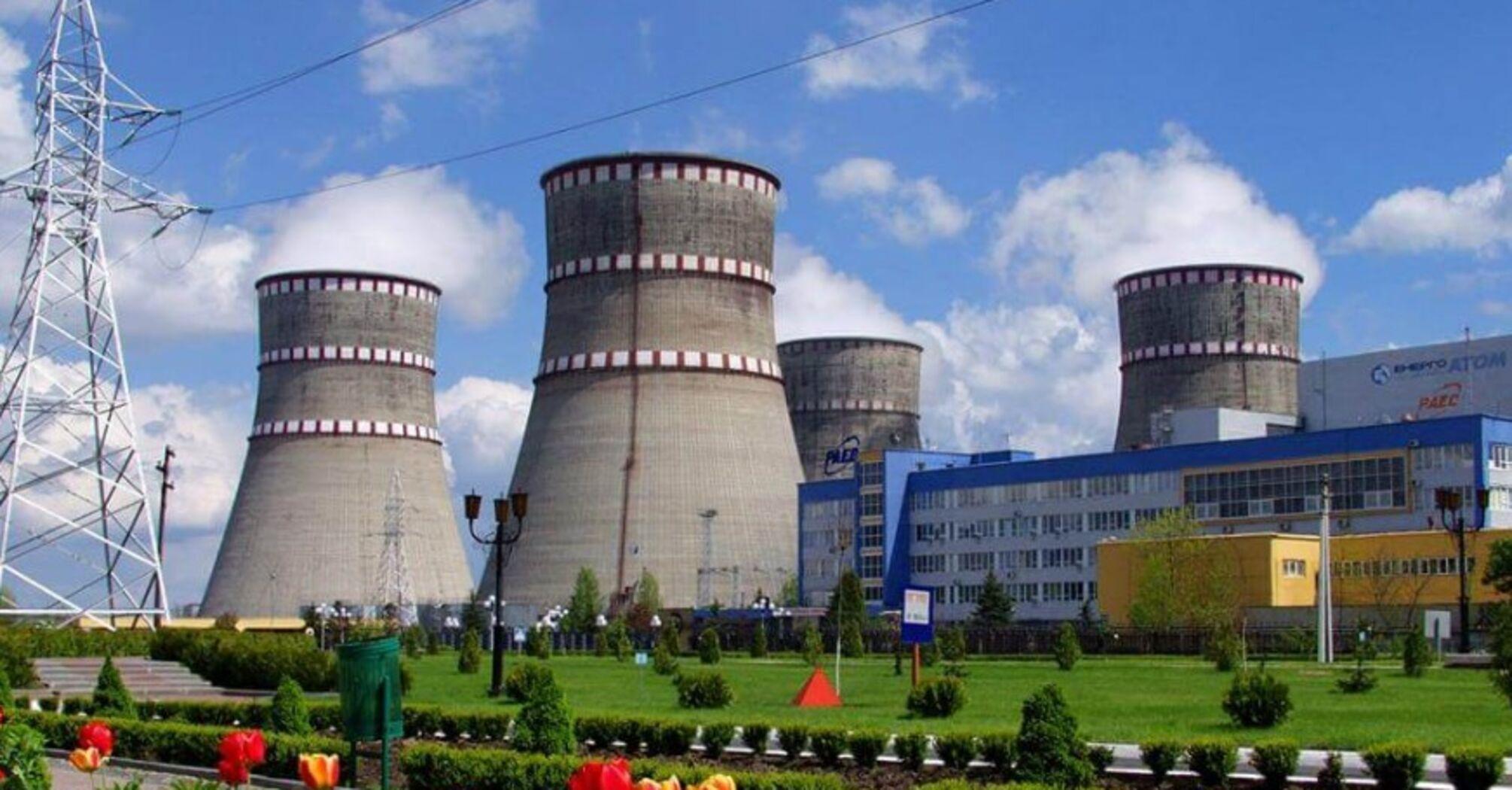Виробництво електроенергії на АЕС майже вдвічі перевищило ТЕС