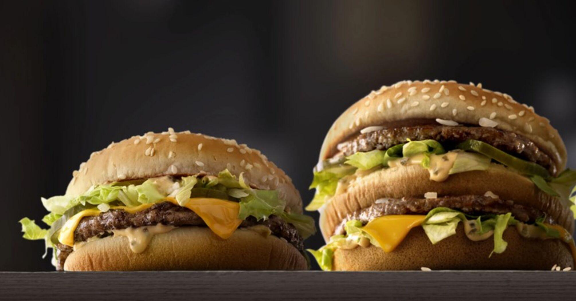 "The Big Mac index: гривня ""недооцінена"" на 62%"