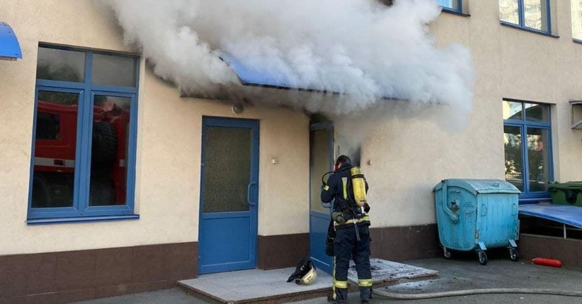 пожежа в інженерній гімназії Києва