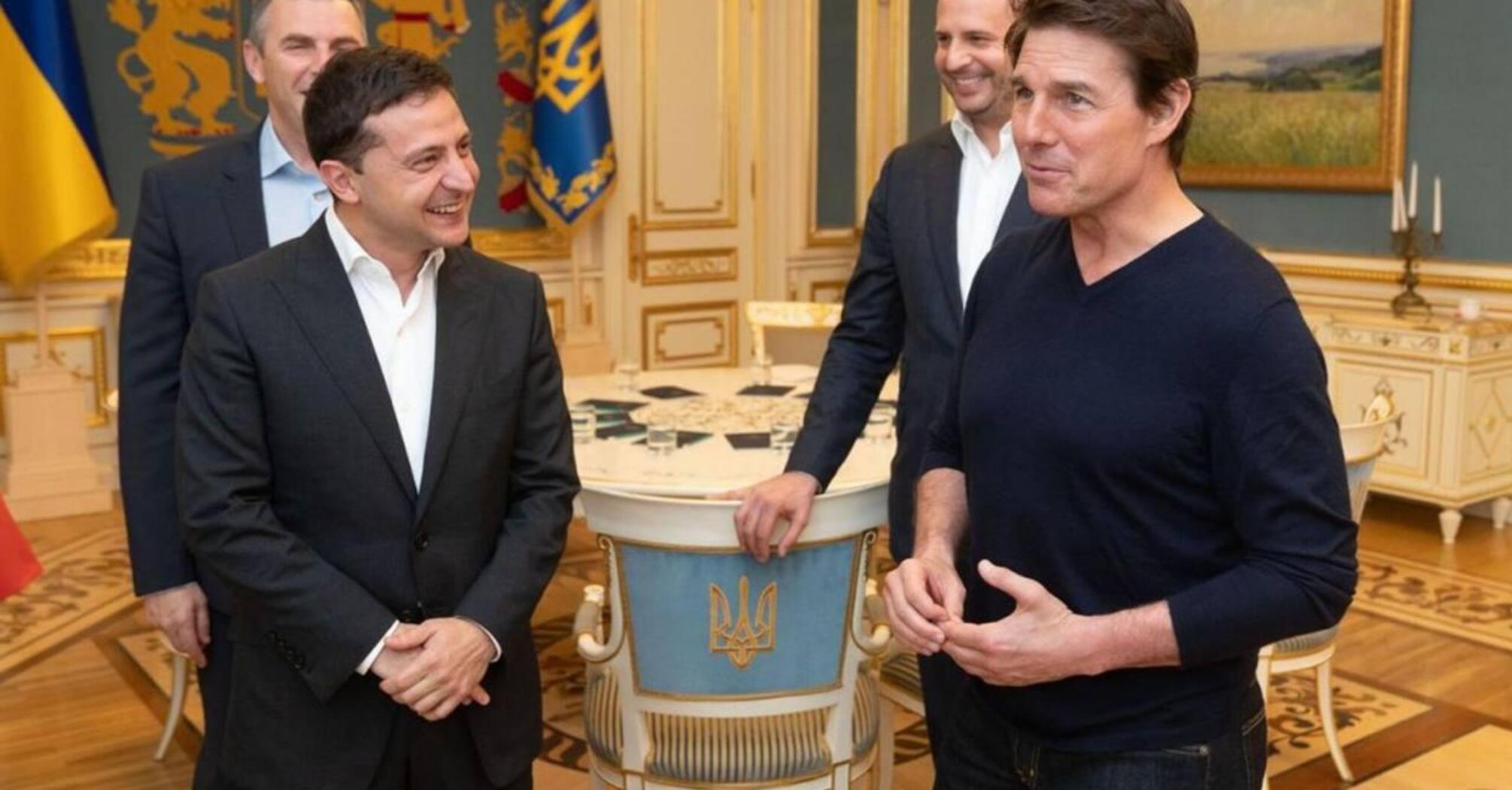 Владимир Зеленский и Том Круз