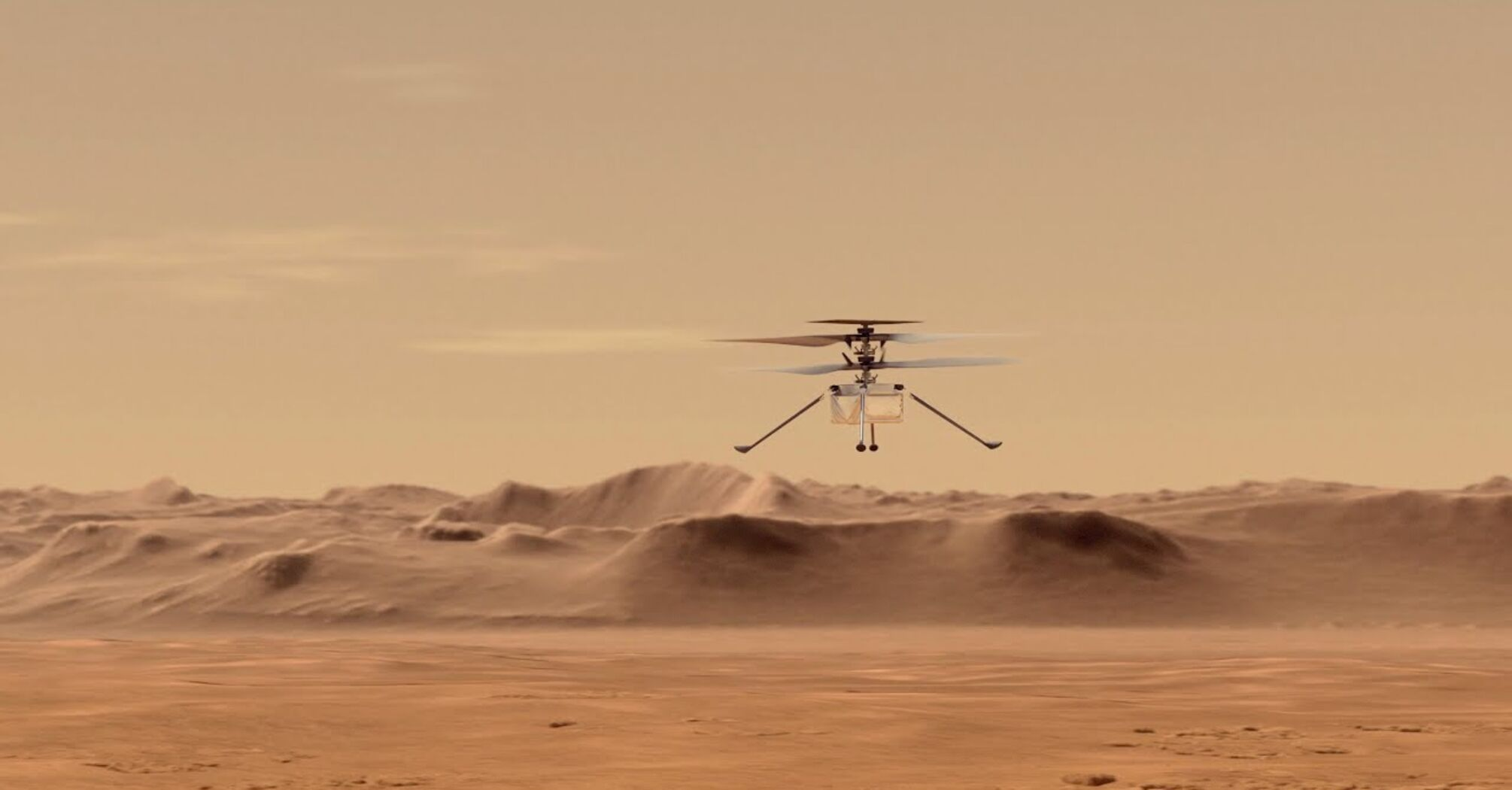 Вертолёт-дрон Ingenuity успешно совершил 9-й полёт над поверхностью Марса